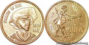 S3471 Médaille Philippe Le Bon 3 Euros Dijon Proof 1996 - Faire Offre