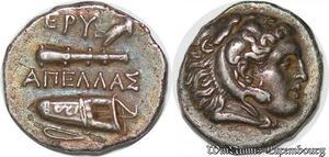 S3593 Rare Drachme Ionia Erythrai 360 Apellas Herakles Aπeλλaς Sup Silver