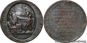 S3706 Révolution Monneron 5 sols Vivre Libres Ou Mourir An IV 1792 Dupré