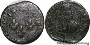 S3805 Louis XIII double tournois 14e type 1639 La Rochelle - Faire Offre