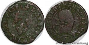 S3808 Henri III double tournois 1582 B Rouen -> Faire Offre