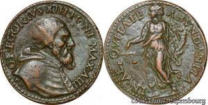 S3906 Très Rare Medal Gregorius XIII 1572-1585 in Aequitate Abundantia