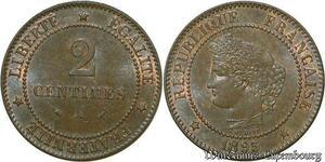 S59 2 Centimes Ceres 1895 A Paris FDC -> Faire Offre