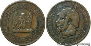 S97 5 Centimes Satirique Napoleon III Le Miserable Casque 1870