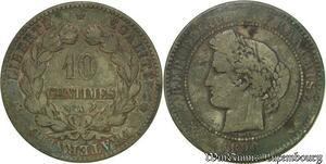 S119 Rare 10 Centimes Ceres 1896 A Paris Torche -> Faire Offre