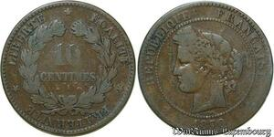 S124 10 Centimes Ceres 1870 A Paris -> Faire Offre