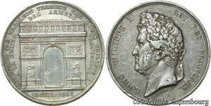 S398 Médaille Louis Philippe Arc de Triomphe Bae 29/07/1836 Silver