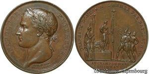 S410 Medal 1er Empire distribution aigles Armée An XIII Denon Br.357 Ess.1040