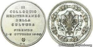 S442 Medal Colloquio Mediteaneo Pira Della Cultura Firenze 5-10/60 Silver