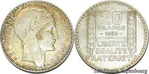 S558 20 Francs Turin 1938 Argent Silver SUP -> Faire Offre