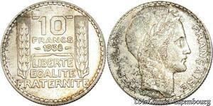 S560 10 Francs Turin 1938 Argent Silver SUP SPL -> Faire Offre