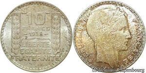 S562 10 Francs Turin 1938 Argent Silver SUP SPL -> Faire Offre