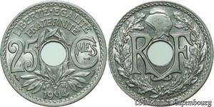S571 25 Centimes Lindauer 1914 Souligné SPL -> Faire Offre
