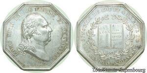 S603 Jeton Louis XVIII Avocats Conseils Roi Cour Andrieu Silver SPL