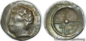 S754 Massalia Marseille(IIIe-I siècles av J.-C.) DT 681 Argent Signée MA