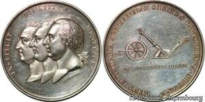 S929 Médaille Louis XVI Louis XVIII Charles X Jeuffroy Parisi 1815 Argent