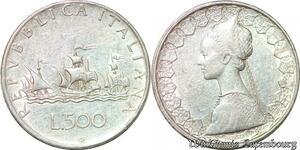 S984 Italy 500 Lires Republica Italiana 1960 Argent Silver -> Faire Offre
