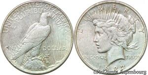 S1041 USA One Dollar Eagle Peace 1922 Argent Silver -> Faire Offre