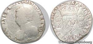 S1118 Rare Charles IX Teston 4ème type 1567 L Bayonne Argent -> Faire Offre