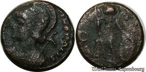 S1522 Empire Romain Roman Nummus Casqué gauche Polis A identifI ->Make offer