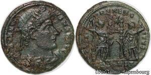 S1582 Constantine II Nummus Gloria Exercitvs // Arelate Arles 332-333 Pconst