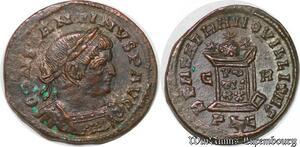 S1603 Constantine Great Ae Nummus, Lugdunum Lyon Beata Tranqvillitas Vot Xx