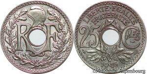 S1819 25 Centimes Lindauer 1915 Souligné Superbe -> Faire Offre