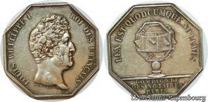 S1896 Jeton Louis Philippe I Compagnie Notaires Paris Michaud Silver