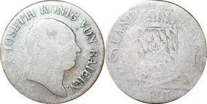 P0004 Germany Bavaria  6 Kreuzer Maximillian I Joseph 1807 Silver -> Make offer