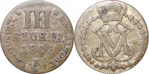 P0007 Germany Berg 3 Stuber Maximilian IV Joseph 1806/5 KM1 Silver -> M offer