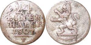 P0014 Germany Hessen Kassel 1/24 Thaler  Wilhelm I 1807 F Silver -> Make offer
