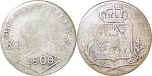 P0021 Germany Worzburg 6 Kreuzer Ferdinand III Austria 1808 -> Make offer