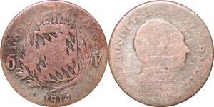 P0023 Germany Bavaria 6 Kreuzer Maximillian IV Joseph 1814 Silver