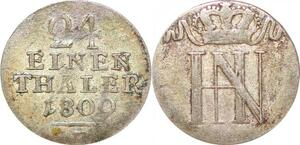 P0030 Germany Westphalia 1/24 Thaler Jérôme Bonaparte 1809 F Silver
