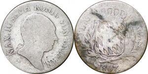 P0036 Germany Bavaria 6 Kreuzer Maximillian I Joseph 1807 Silver -> Make offer