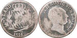 P0040 Germany Bavaria 6 Kreuzer Maximillian I Joseph 1814 Silver -> Make offer