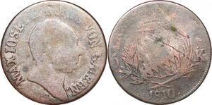P0041 Germany Bavaria 6 Kreuzer Maximillian I Joseph 1810 Silver -> Make offer