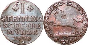 P0048 Germany Brunswick Wolfenbüttel Pfenning Karl Wilhelm Ferdinand 1800