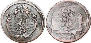 P0051 Scarce German States Kreutzer Nassau Weilburg Karl August 1749 FN