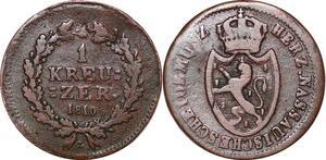P0070 Germany Nassau Kreuzer Friedrich August 1810 L -> Make offer