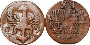 P0075 Germany Stadt Aachen 12 Heller 1794 -> Make offer