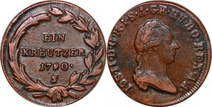 P0080 Austria Habsburg Kreutzer Joseph II 1790 S !  XF -> Make offer