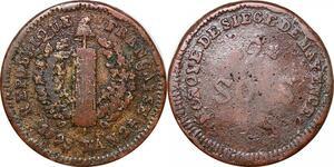 P0108 Germany Siege Mainz Mayence 2 Sols Friedrich Karl Joseph 1793 ->M offer