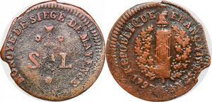 P0112 Germany Siege Mainz Mayence Un Sol Friedrich Karl Joseph 1793 low weight