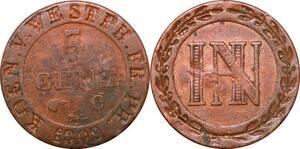 P0132 Germany Westphalia 5 Centimes Jerome Napoleon 1809 C Cassel ->M offer