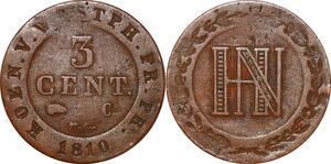 P0141 Germany Westphalia 3 Centimes Jerome Napoleon 1810 C Cassel ->M offer