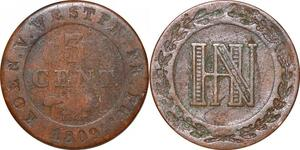 P0147 Germany Westphalia 3 Centimes Jerome Napoleon 1809 C Cassel ->M offer