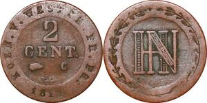 P0150 Germany Westphalia 2 Centimes Jerome Napoleon 1810 C Cassel ->M offer