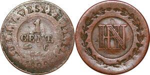 P0155 Germany Westphalia Centime Jerome Napoleon 1809 C Cassel ->M offer