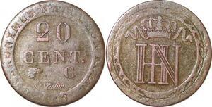 P0163 Germany Westphalia 20 Centimes Jerome Napoleon 1810 C Cassel Silver